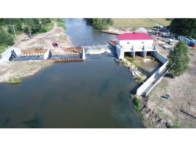 budowa elektrowni wodnej rzeka Bóbr jaz powłokowy wodel