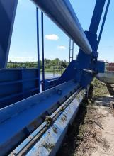 Listwowa czyszczarka krat MEW elektrownia wodna bóbr